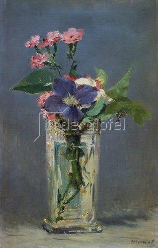 Edouard Manet: Glasvase mit Nelken und Klematis. 1883.