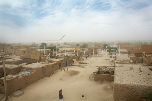 Horst A. Friedrichs: Afrika Mali Sandsturm in Timbuktu