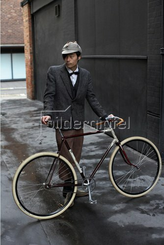 Horst A. Friedrichs: Cycle Style.<p>Akira rides a Vindec Bicycle