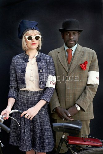 Horst A. Friedrichs: Cycle Style.<p>Kate and Gerald at the London Tweed Run.