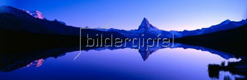 Blick auf das Matterhorn, Zermatt, Kanton Wallis, Schweiz