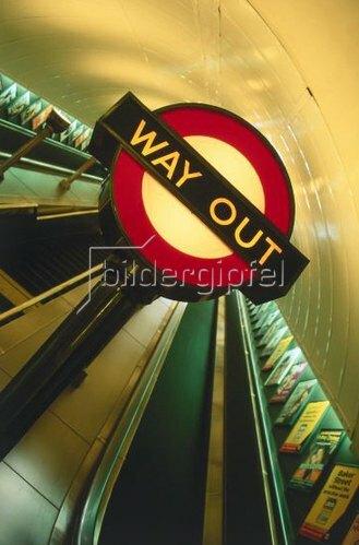 Underground, London, England, Großbritannien