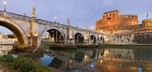 Look at the angel's castle with angel's bridge in Rome, Latium, Italy