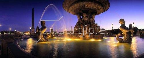 Place de la Concorde, fountain, Paris, Ile-de-France, Frankreich