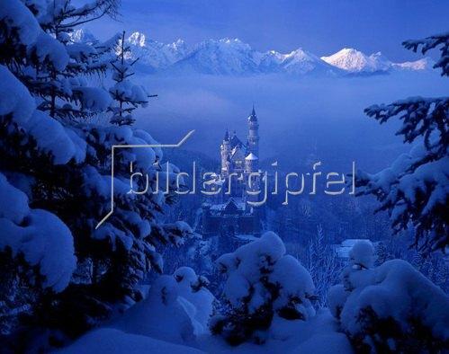 Schloß Neuschwanstein, Schwangau bei Füssen, Schwaben, Bayern, Deutschland