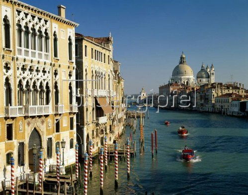 Canal Grande und Santa Maria della Salute in Venedig