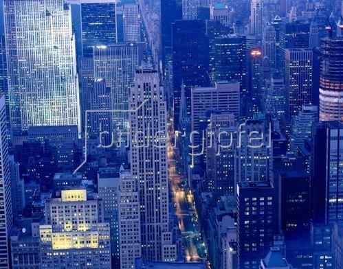 Blick auf die Straßenzüge von Manhattan, New York City, New York, USA
