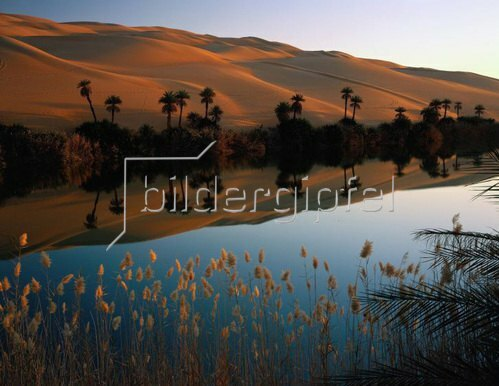 Ubari desert, Oum el Ma lake, Fessan, Libyen