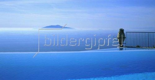 Anacapri, Caesar Augustus Hotel, Blick auf Ischia, Insel Capri, Kampanien, Italien