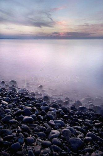 Evening mood on the sea near Sorso, Asinara, Provinz Sassari, Sardinien, Italien