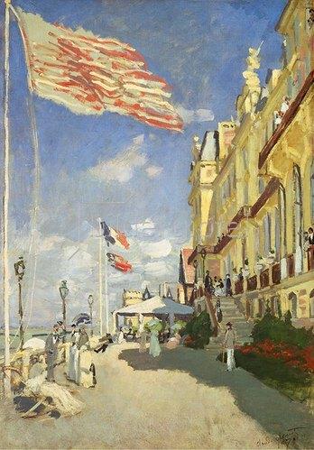 Claude Monet: Hotel des Roches Noires in Trouville. 1870.