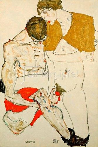 Egon Schiele: Liebespaar, 1913