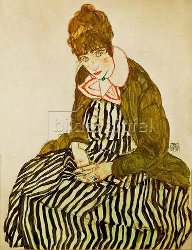 Egon Schiele: Edith Schiele, sitzend. 1915.