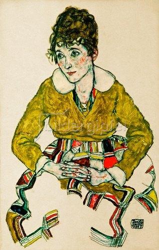 Egon Schiele: Bildnis der Gattin des Künstlers, 1917
