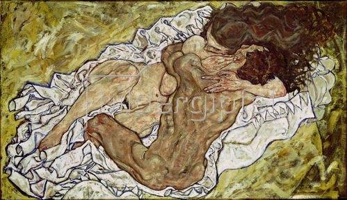 Egon Schiele: Umarmung (Liebespaar), 1917