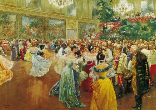 Wilhelm Gause: Der Hofball in Wien. Aquarell um 1906.