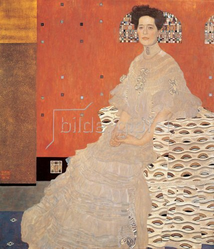 Gustav Klimt: Bildnis Fritza Riedler. 153 x 133 cm. Öl/Lwd. 1906.