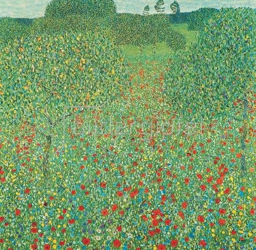 Gustav Klimt: Mohnwiese. Öl auf Leinwand.1907.