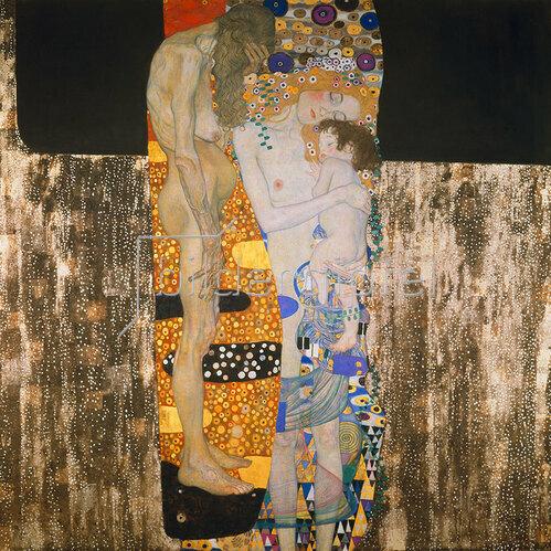 Gustav Klimt: Die drei Lebensalter. D141. Öl/Lwd. 1905.