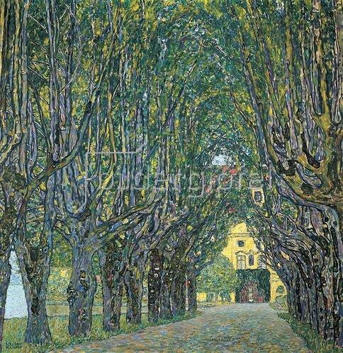 Gustav Klimt: Allee im Park von Schloss Kammer. Öl auf Leinwand. 1912.