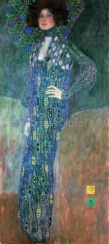 Gustav Klimt: Bildnis Emilie Flöge. Leinwand 1902