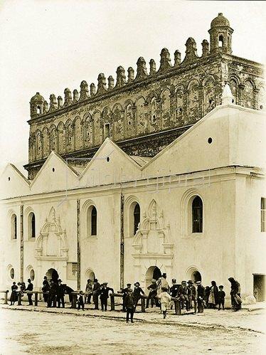 Synagoge in Zolkiew, Galizien. Um 1900.