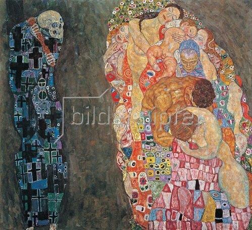 Gustav Klimt: Tod und Leben, um 1910