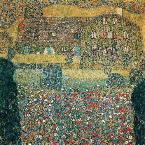 Gustav Klimt: Landhaus am Attersee, um 1914