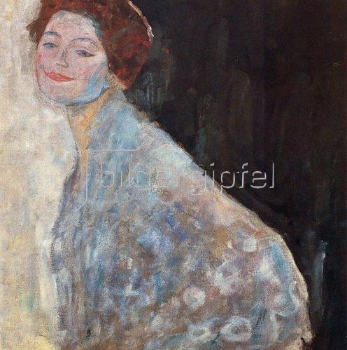 Gustav Klimt: Damenbildnis in Weiss, um 1917