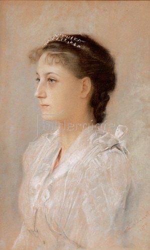 Gustav Klimt: Brustbild Emilie Flöge. Wien, 1891