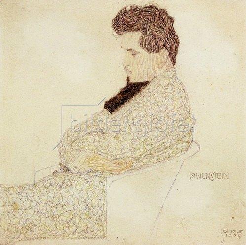 Egon Schiele: Portrait des Komponisten Arthur Löwenstein, 1909