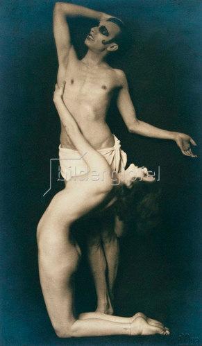 Madame d' Ora: Anita Berber und S. Droste, Tänzer, 1922