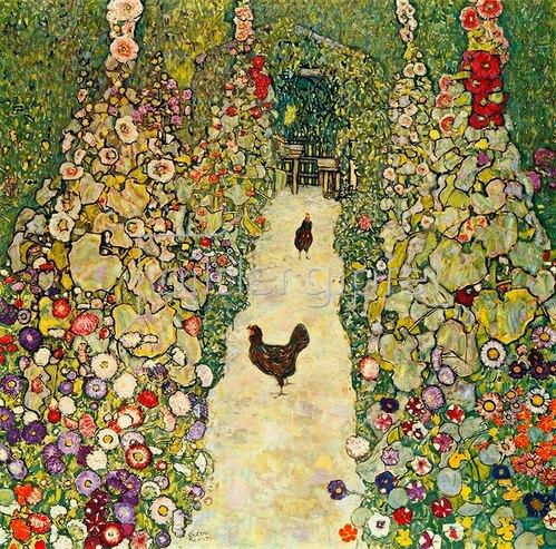 Gustav Klimt: Gartenweg mit Hühnern, 1916.