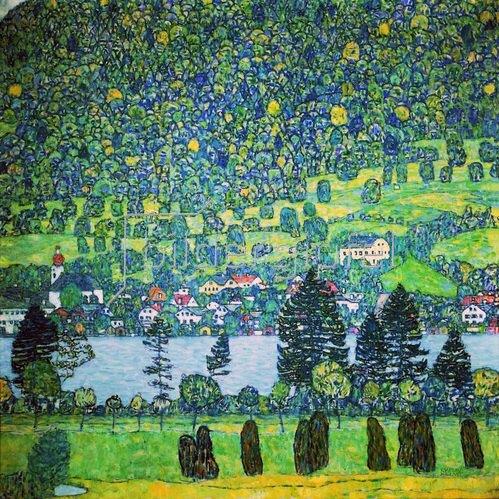 Gustav Klimt: Waldabhang in Unterach am Attersee, 1917