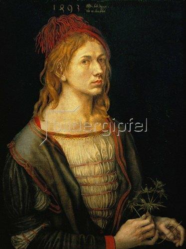 Albrecht Dürer: Albrecht Dürer, Selbstportrait. 1493