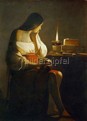 Georges de La Tour: Madeleine a la Veilleuse. Gemälde.