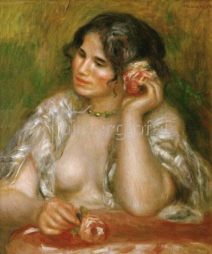 Gabrielle Renard (1878-1959). Öl auf Lw. 1911, 55,5 x 47 cm