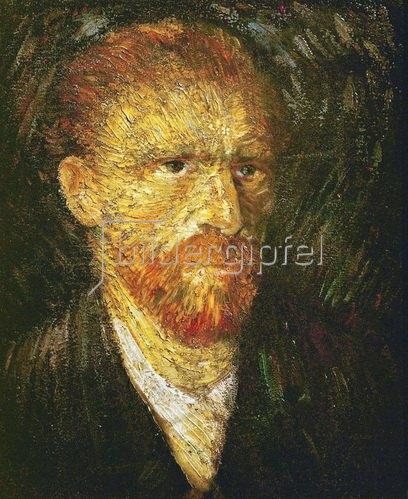 Vincent van Gogh: Van Gogh, Selbstportrait. Gemälde um 1887, 58 x 71 cm