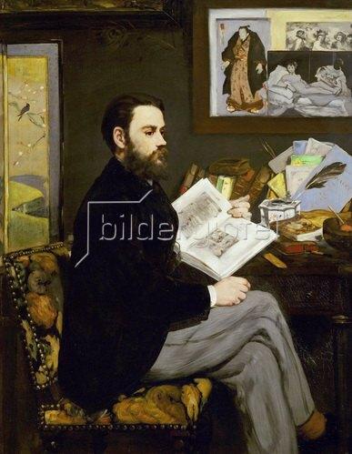 Emile Zola. Gemälde 1868