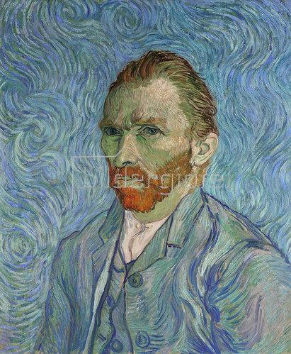 Vincent Van Gogh, Selbstportrait. Gemälde. 1889