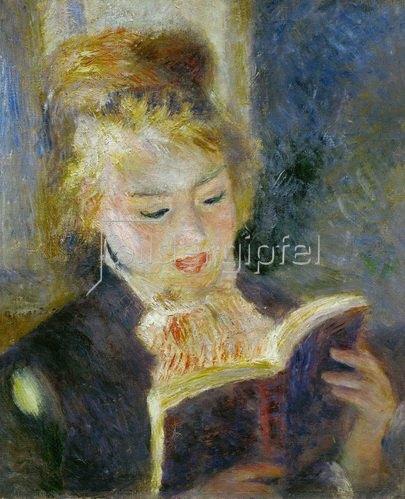 Auguste Renoir: Dame liest in einem Buch 1874-1876, 46,5 x 38,5 cm