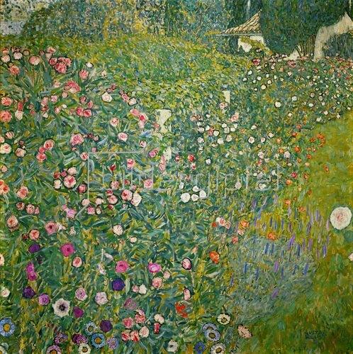 Gustav Klimt: Italienische Gartenlandschaft, 110 x 110 cm