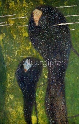 Gustav Klimt: Nixen - Silberfische. Öl/Lw. 1894, 82 x 52 cm