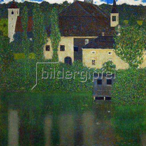Gustav Klimt: Schloss Unterach am Attersee, 110 x 110 cm, Öl auf Leinwand