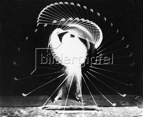 Die Phasen eines Golfschlags. Photographie um 1930.