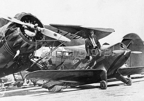 """Die """"Tilbury Flash"""" war zu ihrer Zeit, Anfang der 30er Jahre, die kleinste Sportmaschine der Welt. Miami, USA, Photographie. Um 1930."""