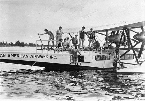 Wasserflugzeug. Photographie. Um 1930.