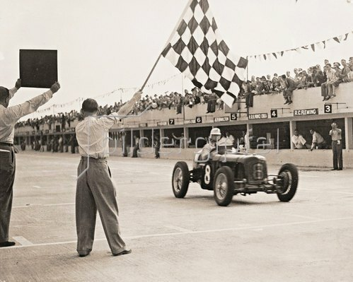 International Trophy Race. Brooklands, England. Photographie. 1937