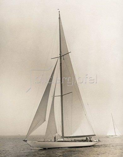 """Die Yacht """"Vanitie"""", Photographie um 1930."""