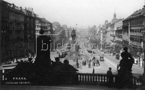 Stadtansicht von Prag. Tschechien. Photographie. 1934